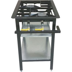 2 Burner Boiling Table - Staggered