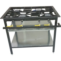 4 Burner Boiling Table - Staggered