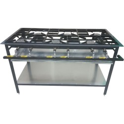 6 Burner Boiling Table - Staggered